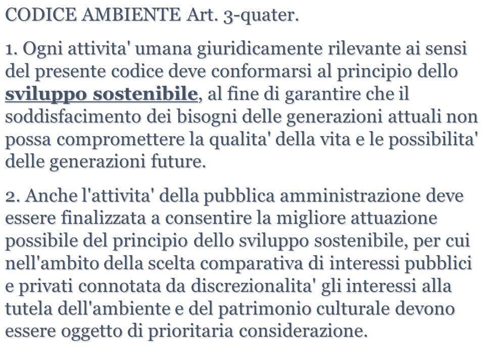 CODICE AMBIENTE Art. 3-quater.