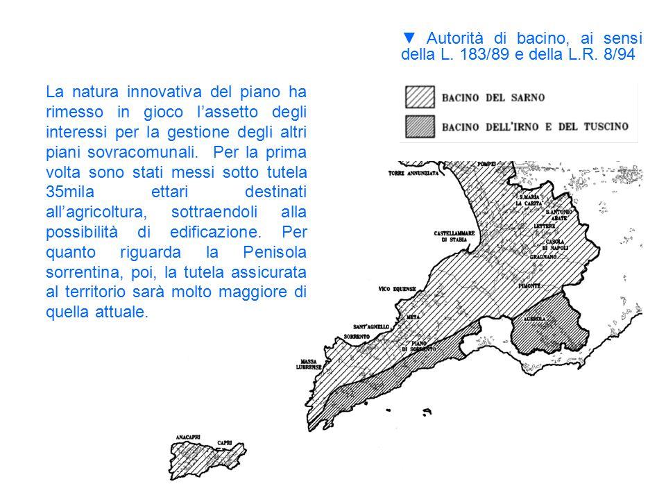▼ Autorità di bacino, ai sensi della L. 183/89 e della L.R. 8/94