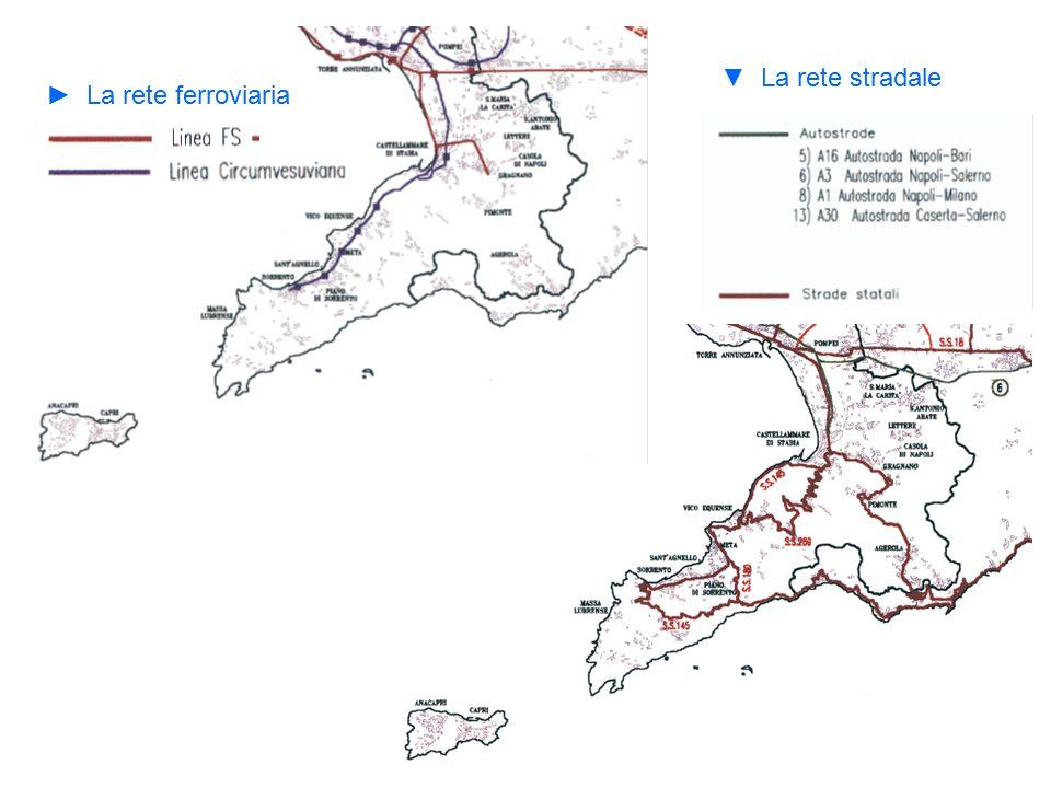 ▼ La rete stradale ► La rete ferroviaria
