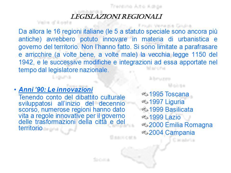 Legislazioni regionali