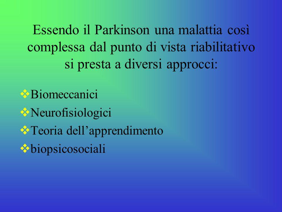 Essendo il Parkinson una malattia così complessa dal punto di vista riabilitativo si presta a diversi approcci: