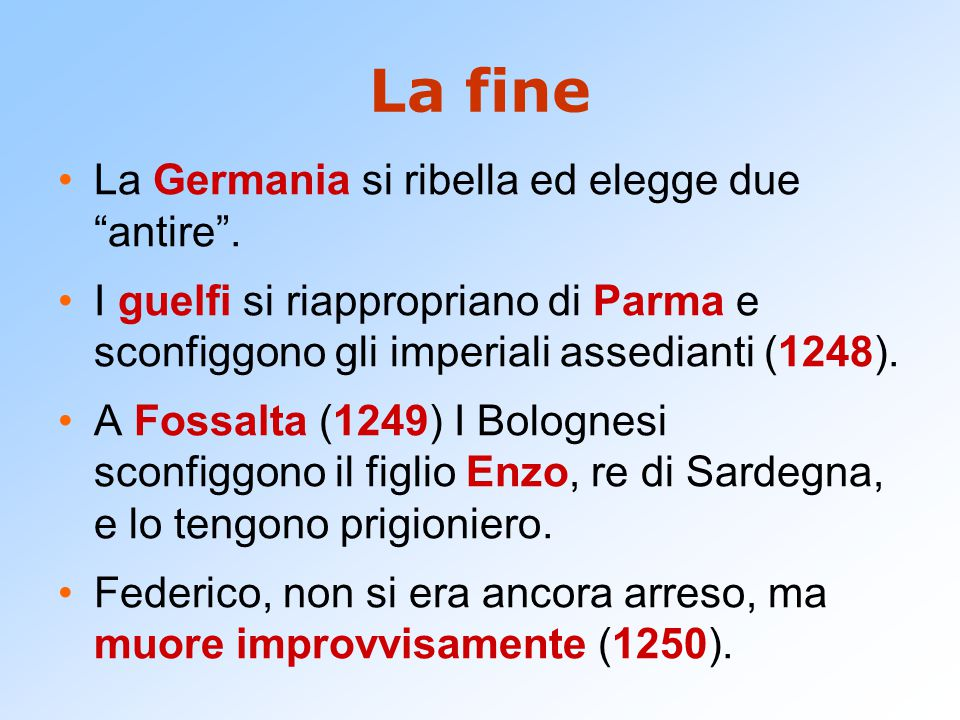 La fine La Germania si ribella ed elegge due antire .