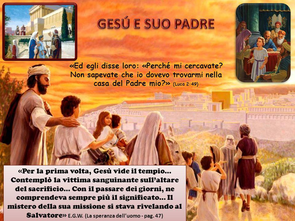 GESÚ E SUO PADRE «Ed egli disse loro: «Perché mi cercavate Non sapevate che io dovevo trovarmi nella casa del Padre mio » (Luca 2:49)