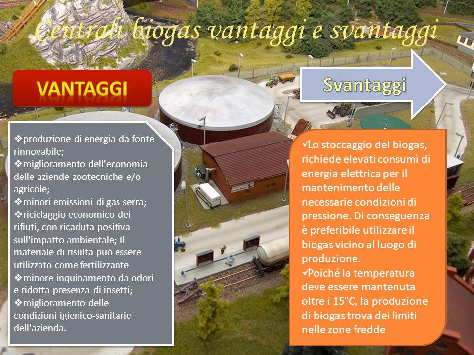 Centrali biogas vantaggi e svantaggi
