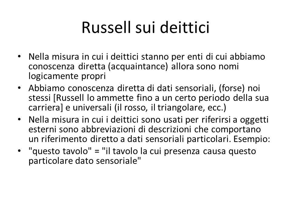 Russell sui deittici