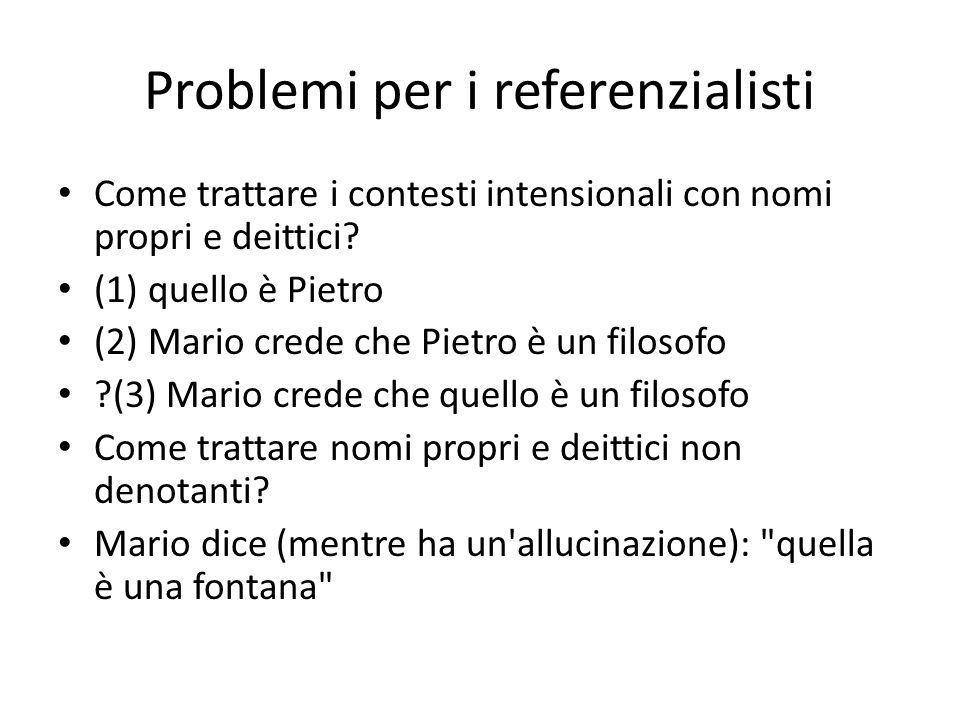 Problemi per i referenzialisti