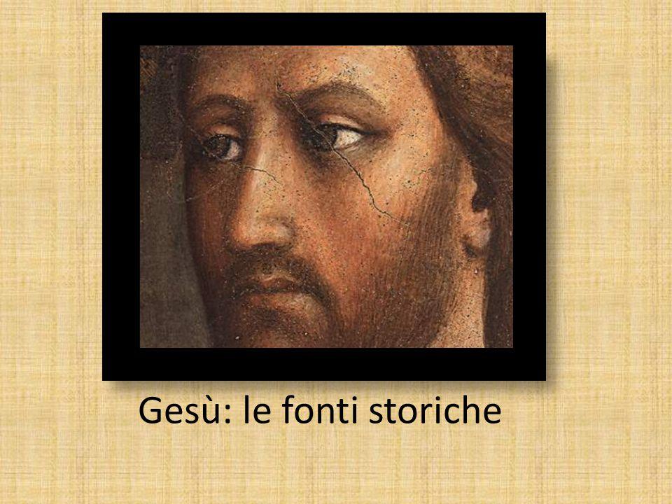 Gesù: le fonti storiche
