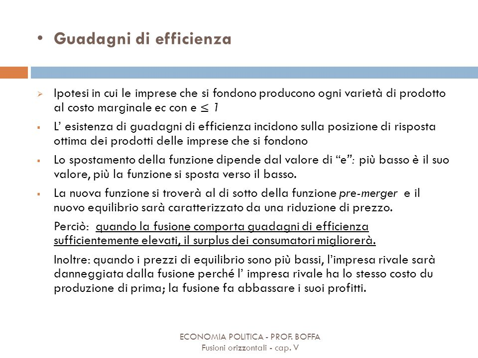 Guadagni di efficienza