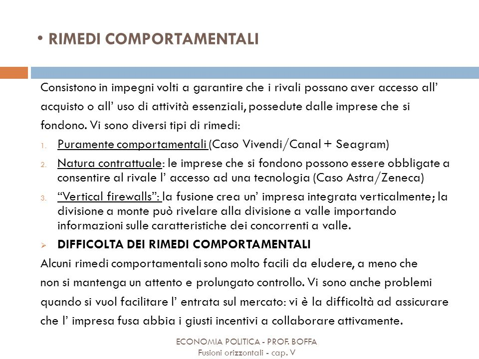 RIMEDI COMPORTAMENTALI