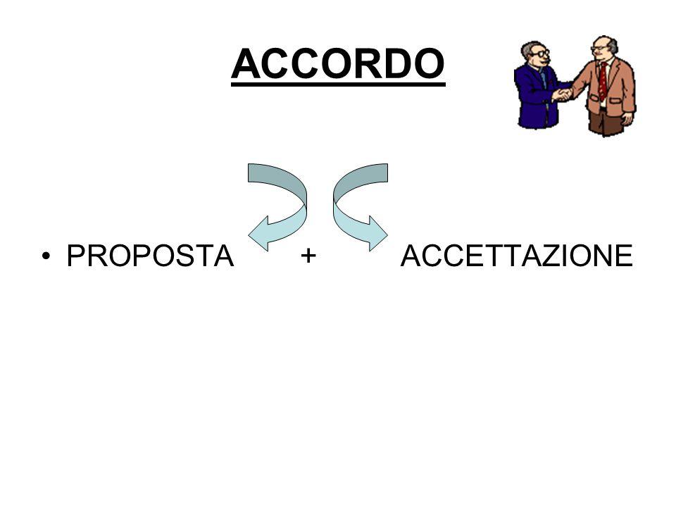 ACCORDO PROPOSTA + ACCETTAZIONE
