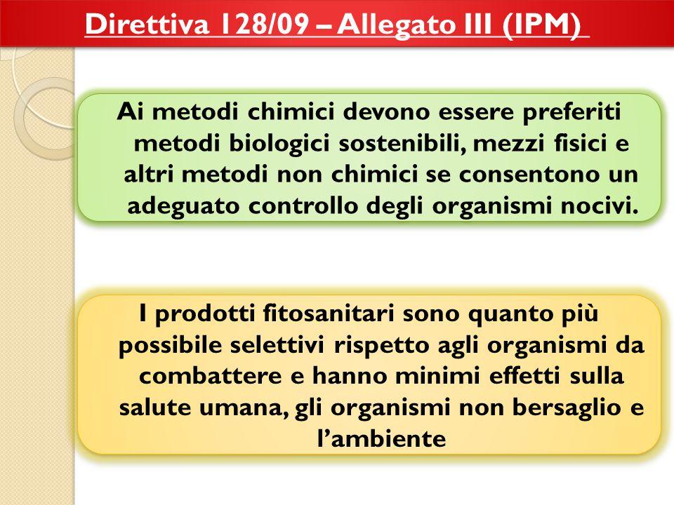 Direttiva 128/09 – Allegato III (IPM)