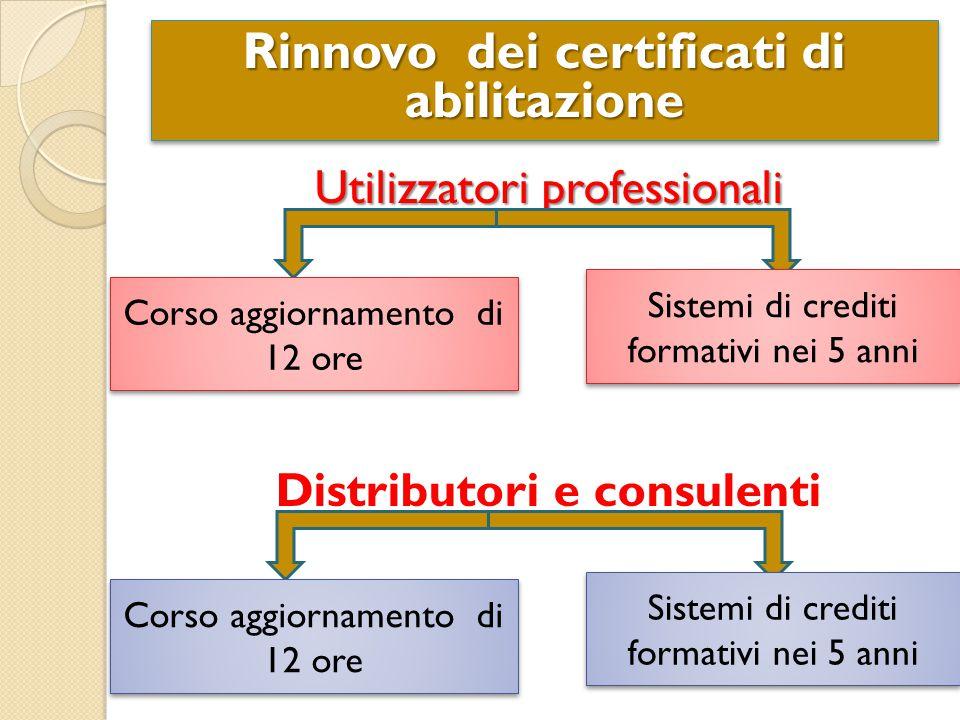 Rinnovo dei certificati di abilitazione