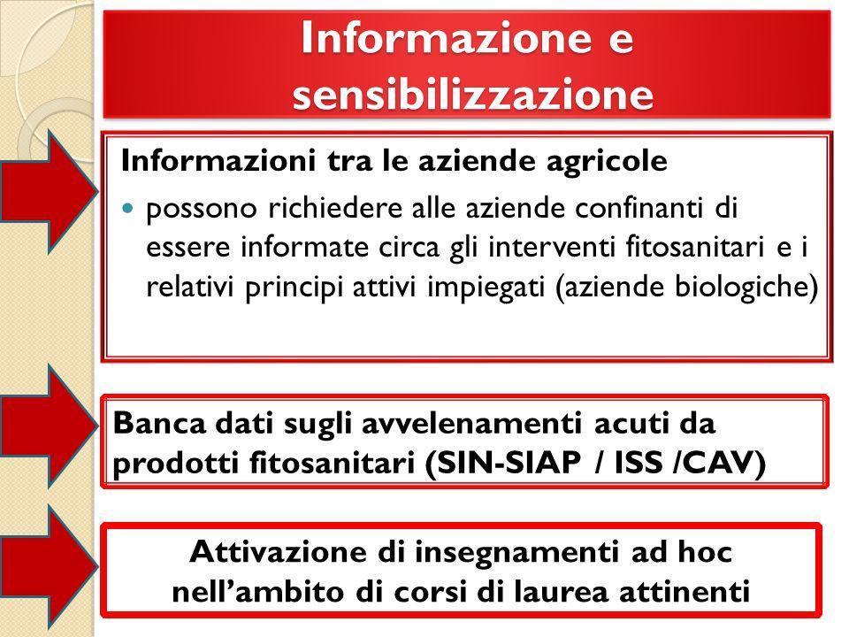 Informazione e sensibilizzazione