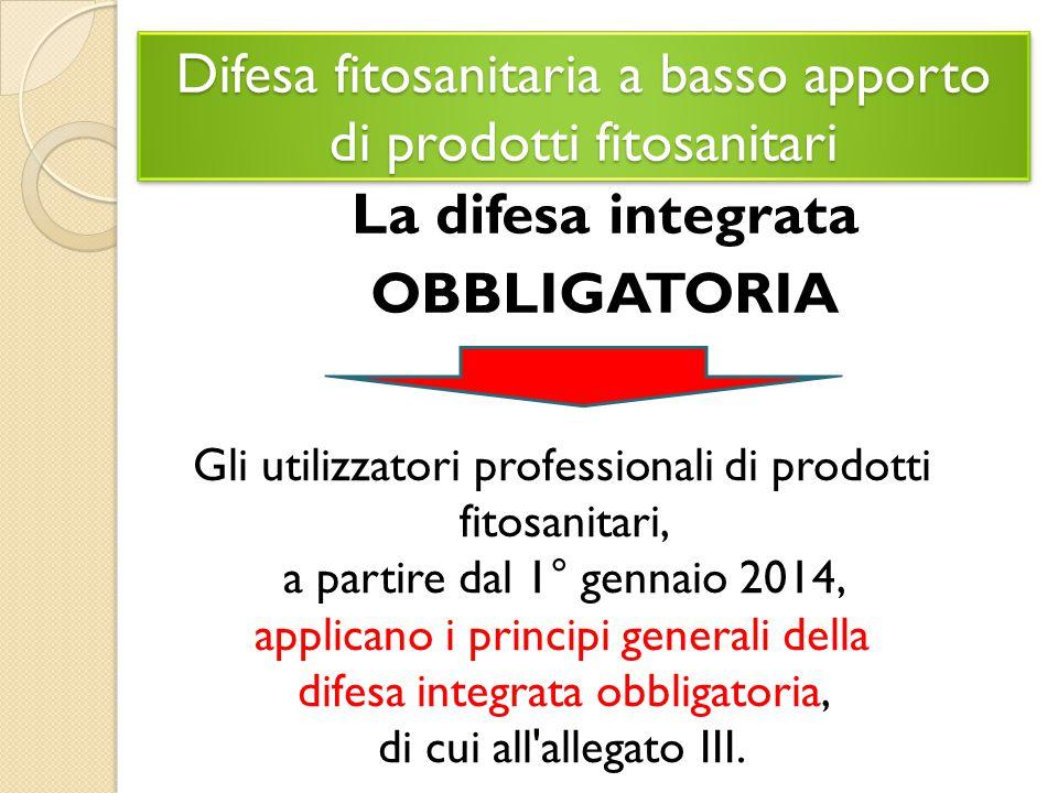 Difesa fitosanitaria a basso apporto di prodotti fitosanitari