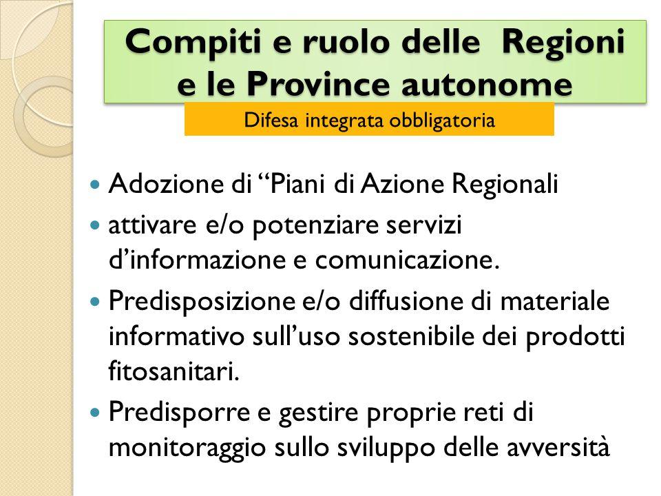 Compiti e ruolo delle Regioni e le Province autonome