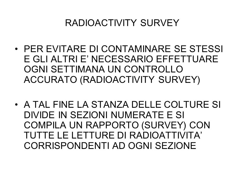 RADIOACTIVITY SURVEY