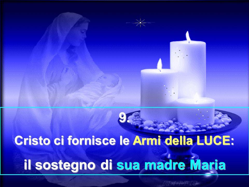 Cristo ci fornisce le Armi della LUCE: il sostegno di sua madre Maria