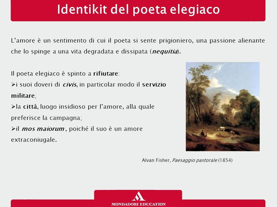 Identikit del poeta elegiaco