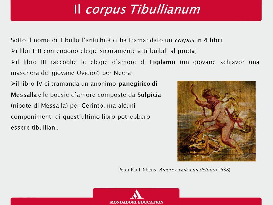 Il corpus Tibullianum 13/01/13. Sotto il nome di Tibullo l'antichità ci ha tramandato un corpus in 4 libri: