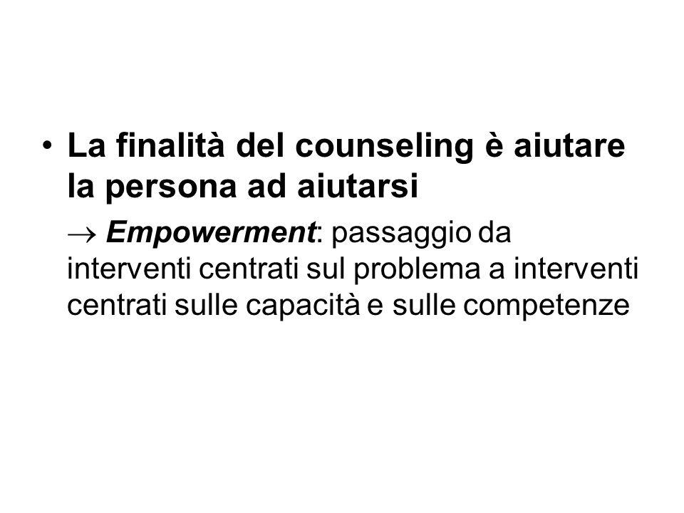 La finalità del counseling è aiutare la persona ad aiutarsi