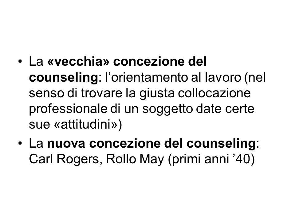 La «vecchia» concezione del counseling: l'orientamento al lavoro (nel senso di trovare la giusta collocazione professionale di un soggetto date certe sue «attitudini»)