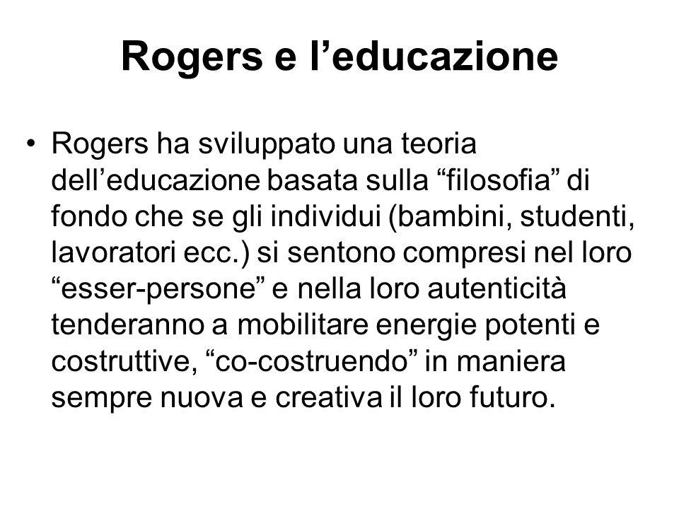Rogers e l'educazione