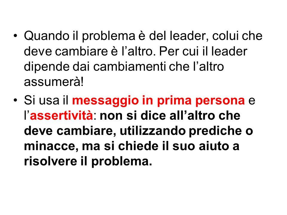 Quando il problema è del leader, colui che deve cambiare è l'altro