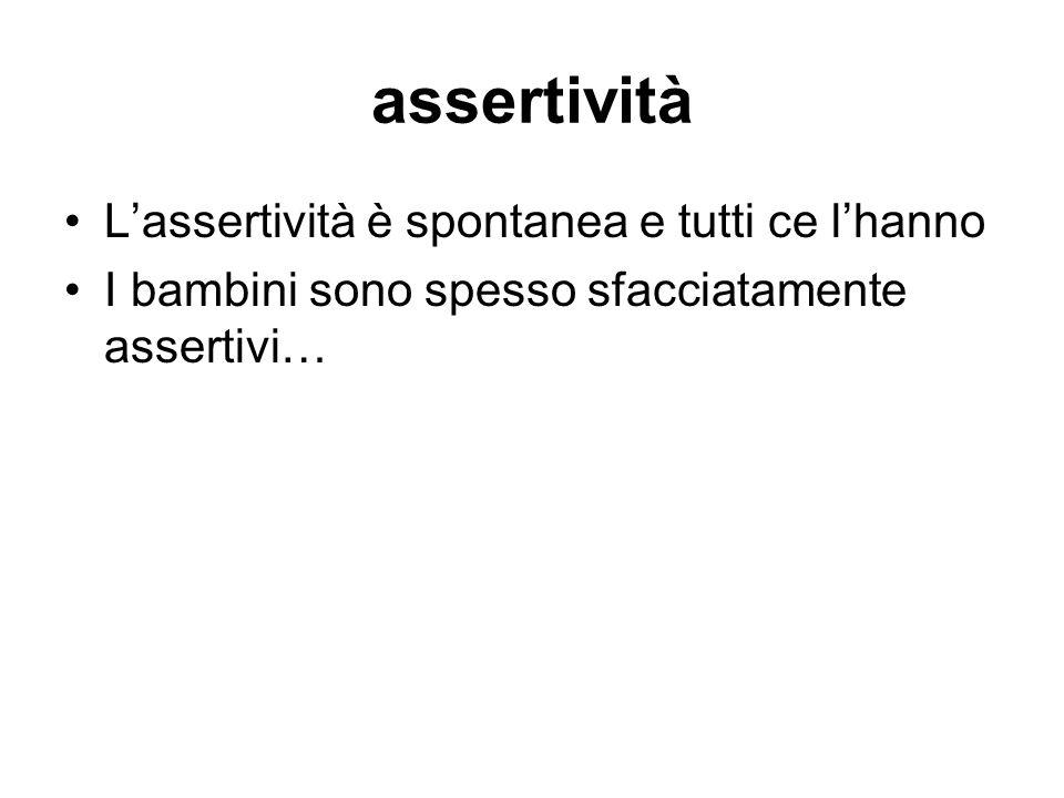 assertività L'assertività è spontanea e tutti ce l'hanno