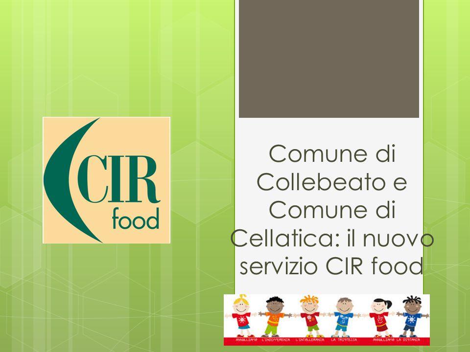 Comune di Collebeato e Comune di Cellatica: il nuovo servizio CIR food