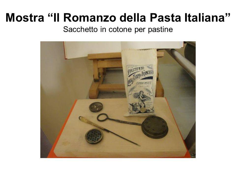 Mostra Il Romanzo della Pasta Italiana Sacchetto in cotone per pastine