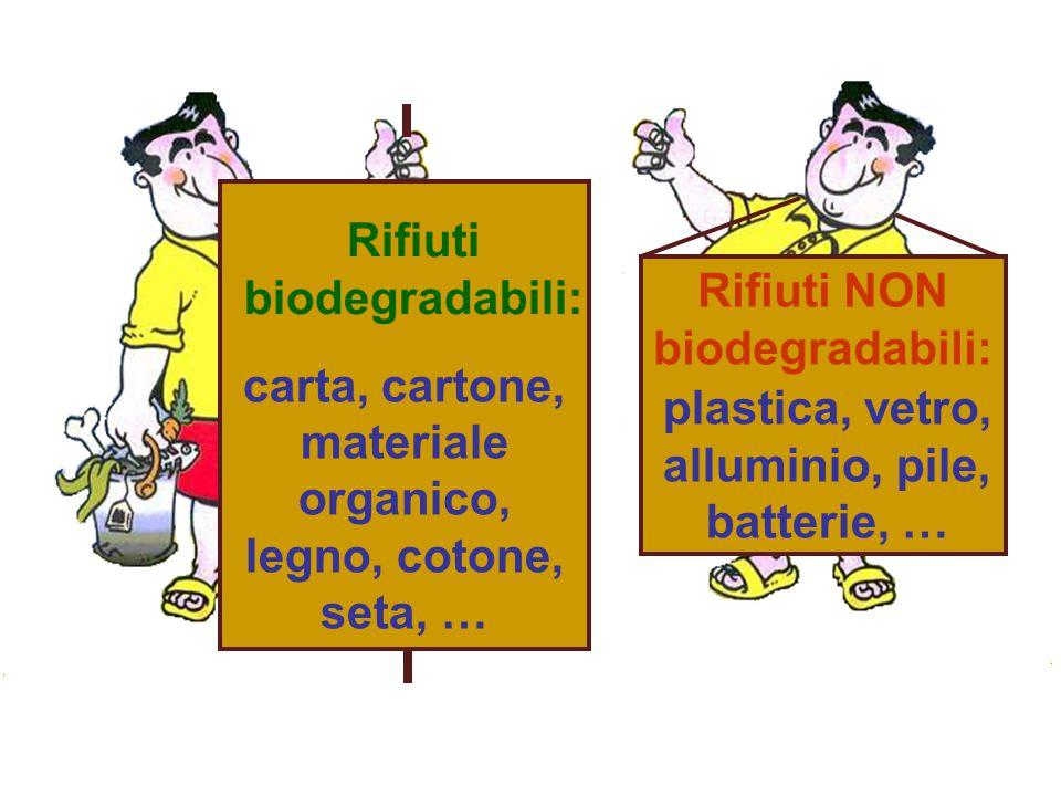Rifiuti NON biodegradabili: