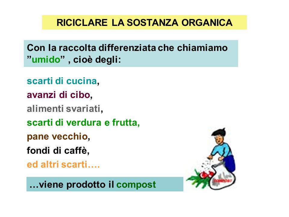 RICICLARE LA SOSTANZA ORGANICA