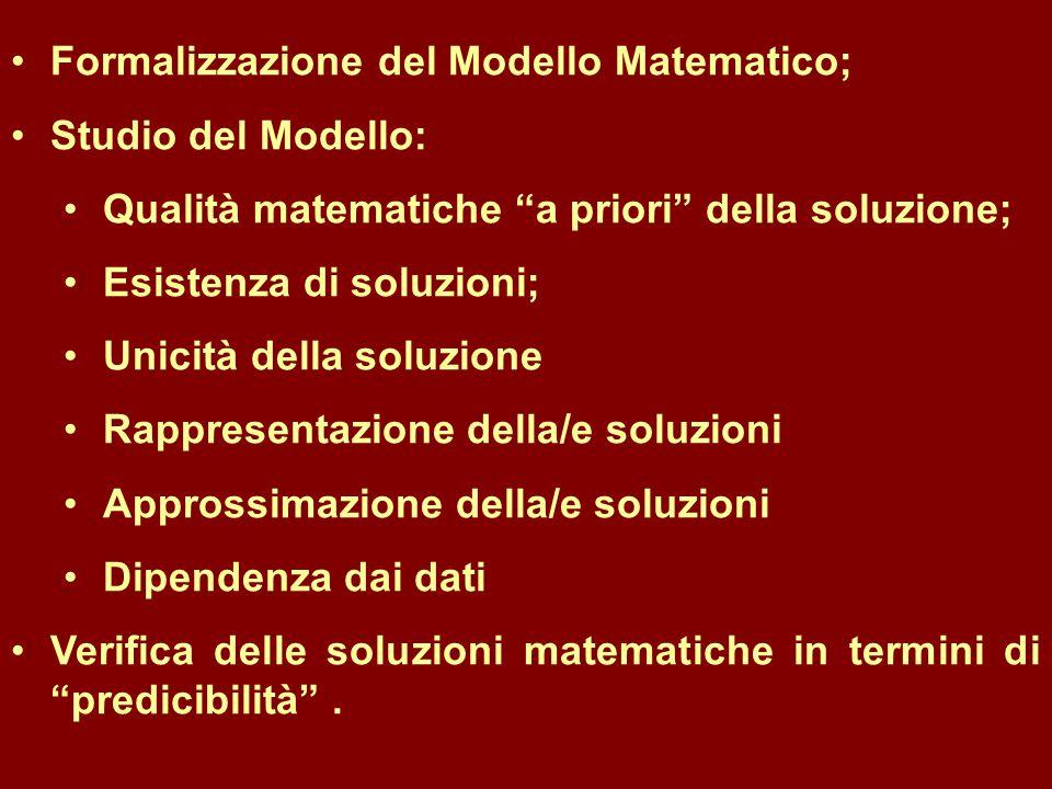 Formalizzazione del Modello Matematico;