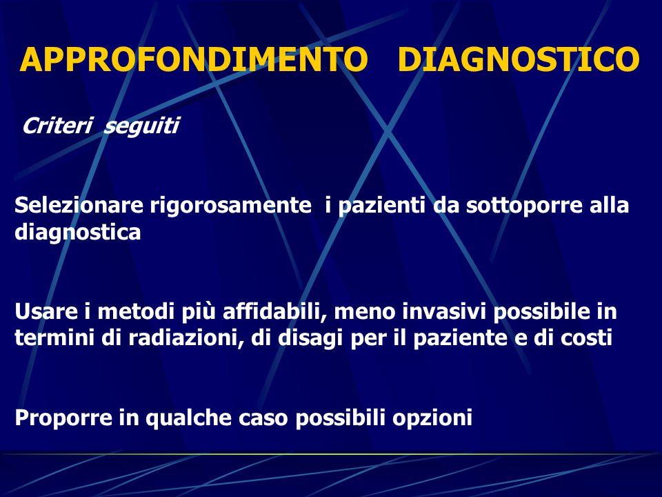Criteri clinici La sintomatologia può variare con l'età.