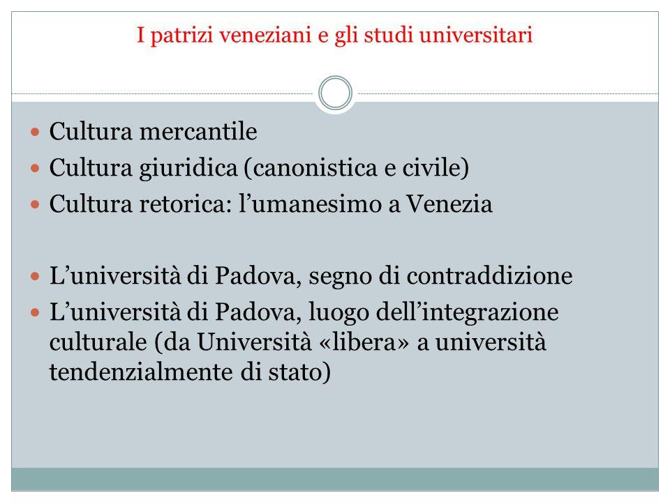 I patrizi veneziani e gli studi universitari