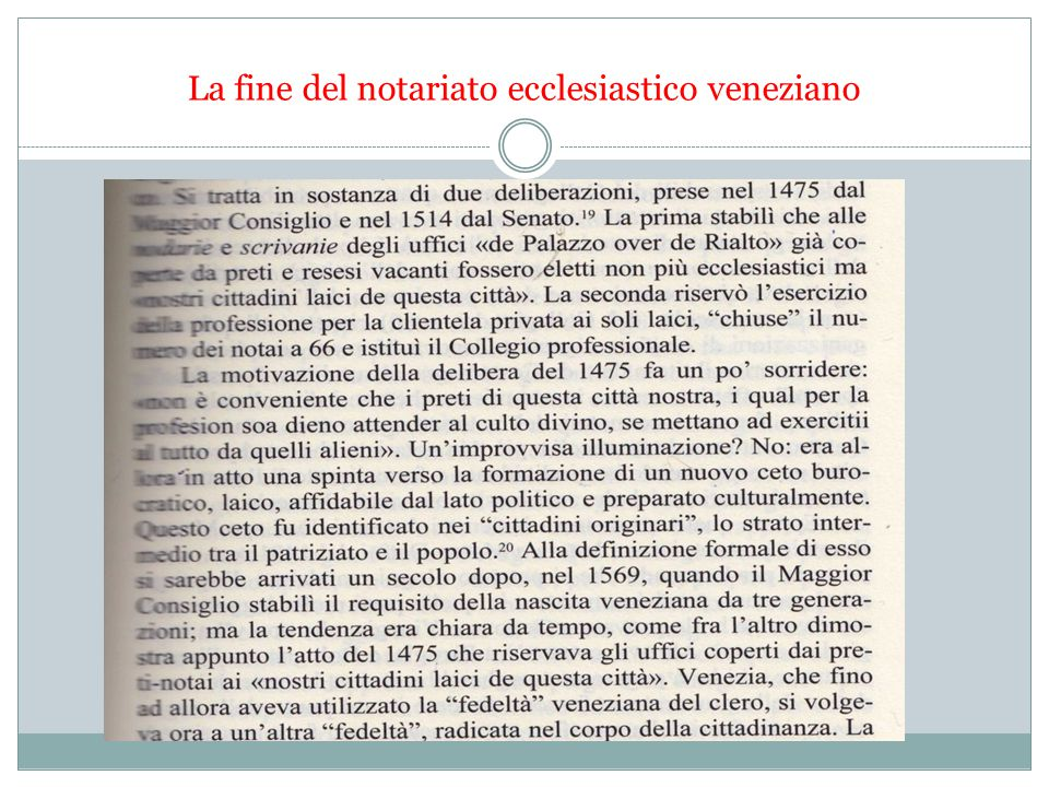 La fine del notariato ecclesiastico veneziano