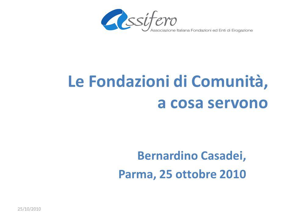 Le Fondazioni di Comunità, a cosa servono