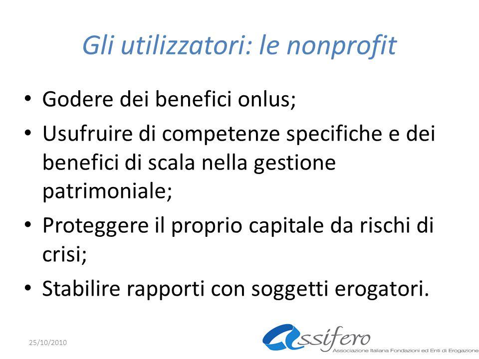 Gli utilizzatori: le nonprofit