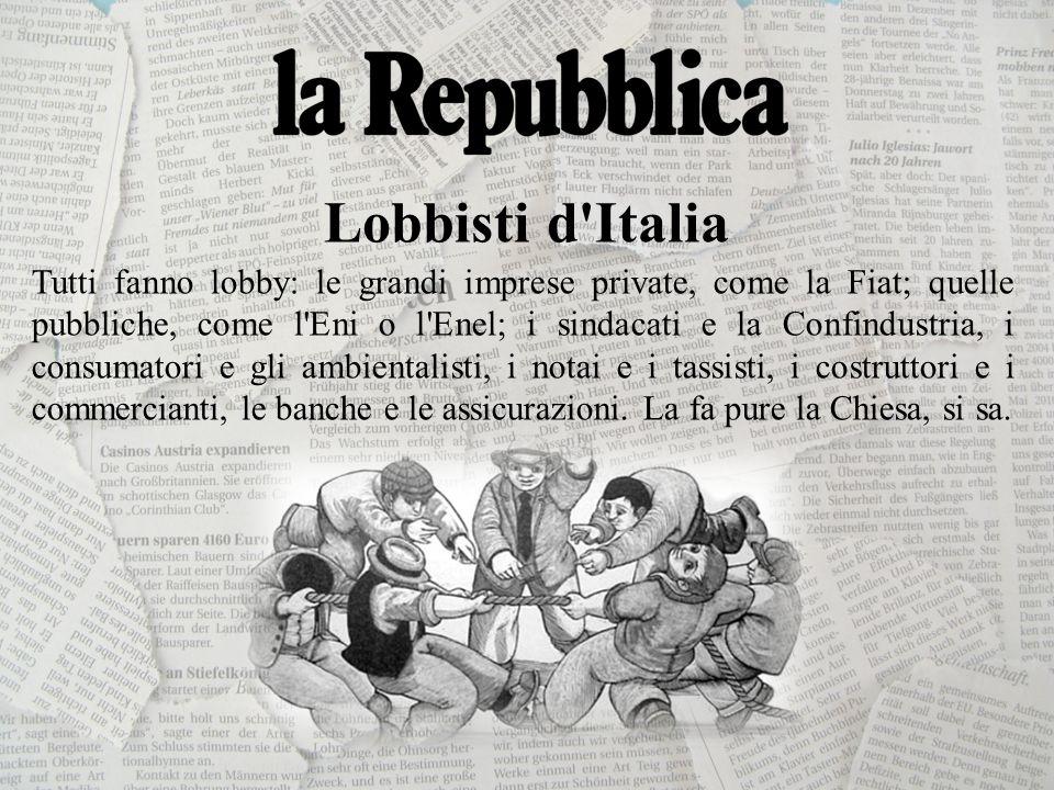 Lobbisti d Italia