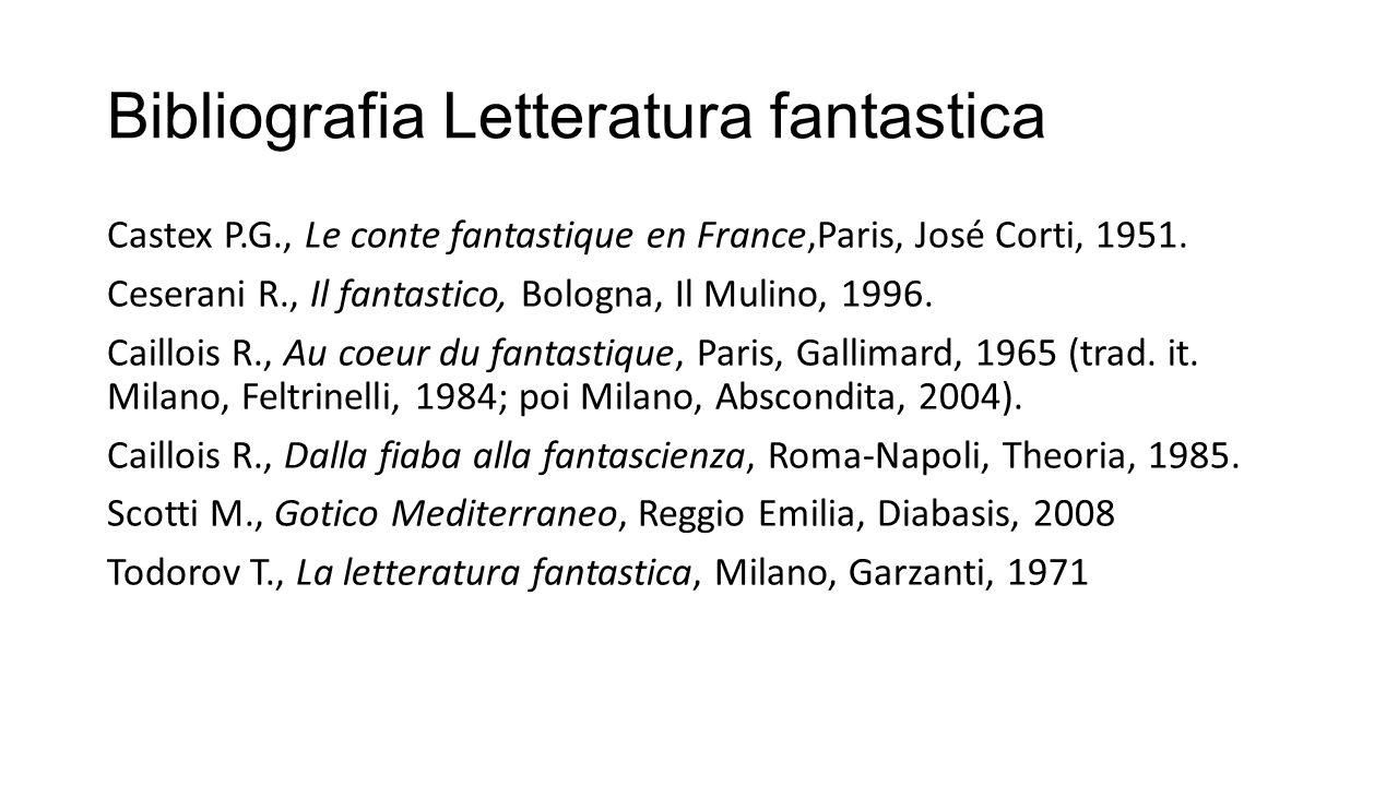 Bibliografia Letteratura fantastica