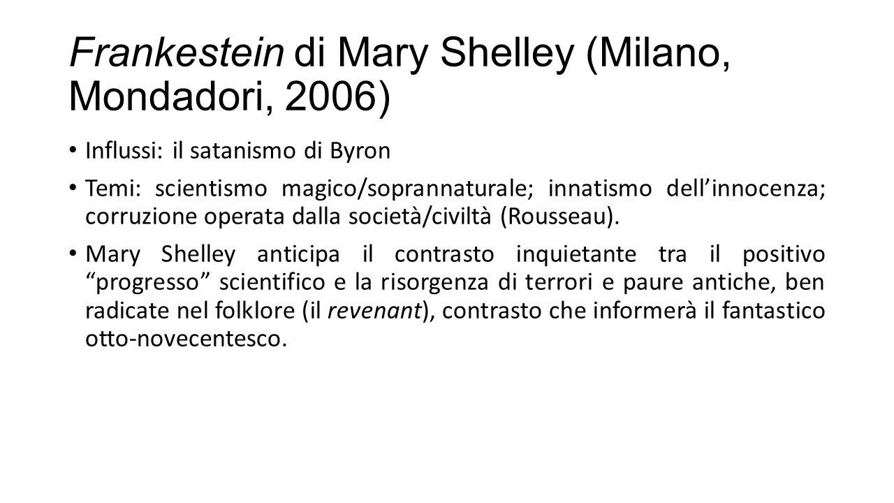 Frankestein di Mary Shelley (Milano, Mondadori, 2006)