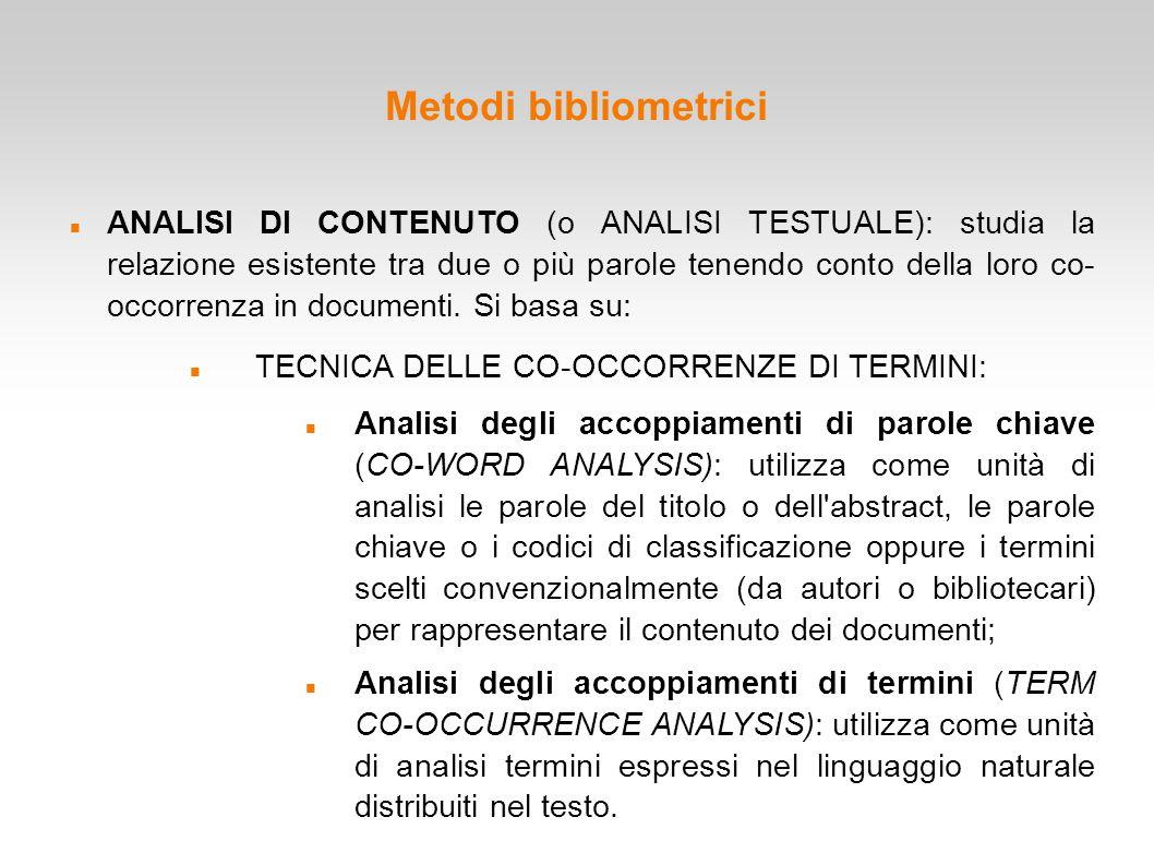 Metodi bibliometrici