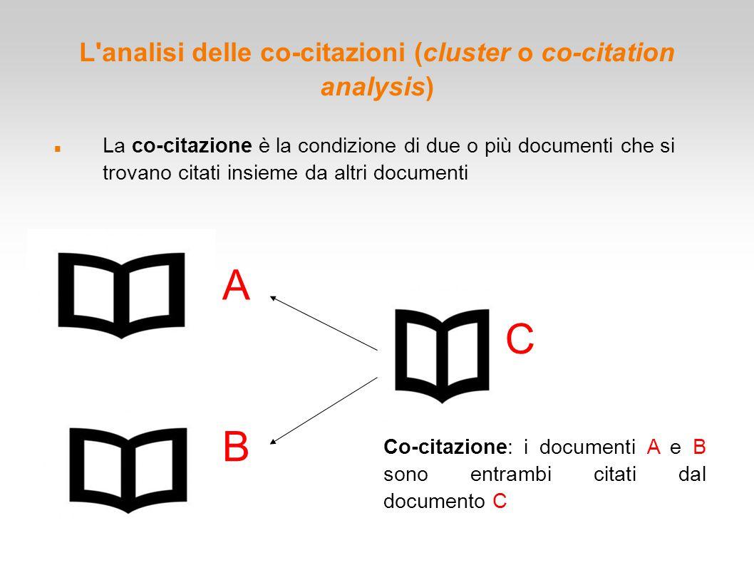 L analisi delle co-citazioni (cluster o co-citation analysis)