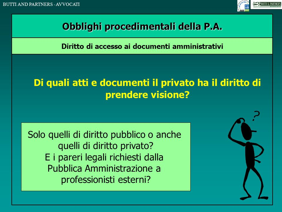 Obblighi procedimentali della P.A.