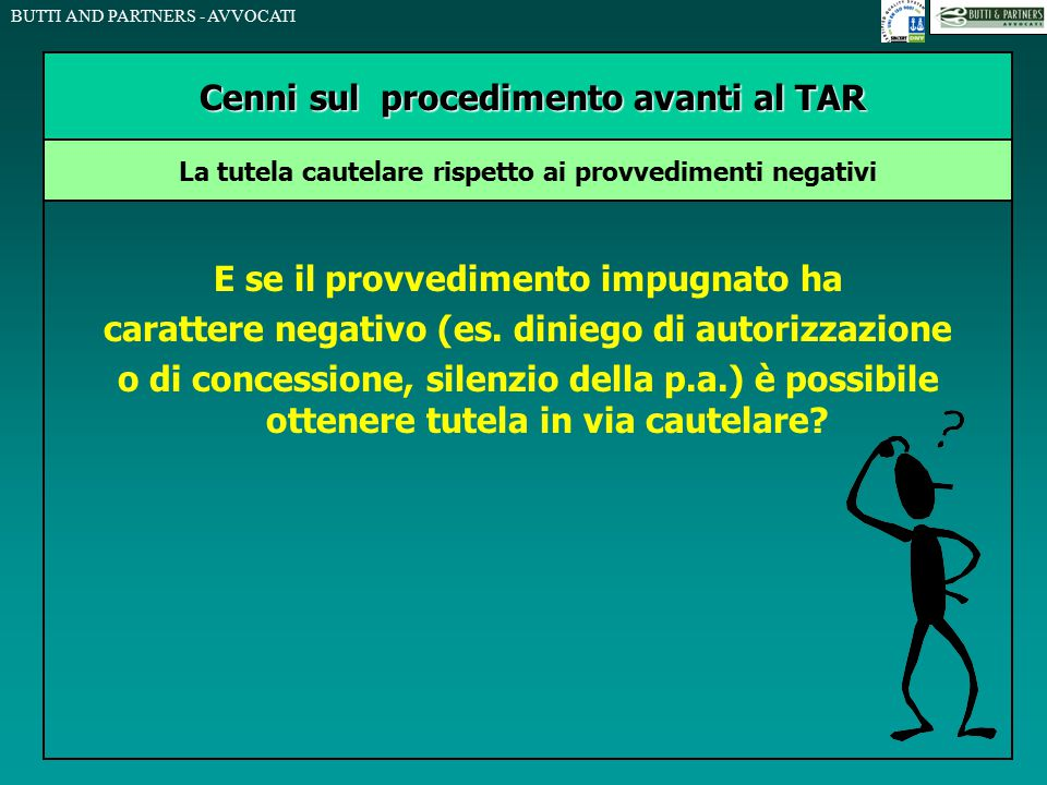 Cenni sul procedimento avanti al TAR