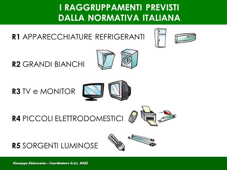 I RAGGRUPPAMENTI PREVISTI DALLA NORMATIVA ITALIANA