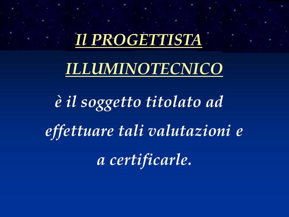 Il PROGETTISTA ILLUMINOTECNICO