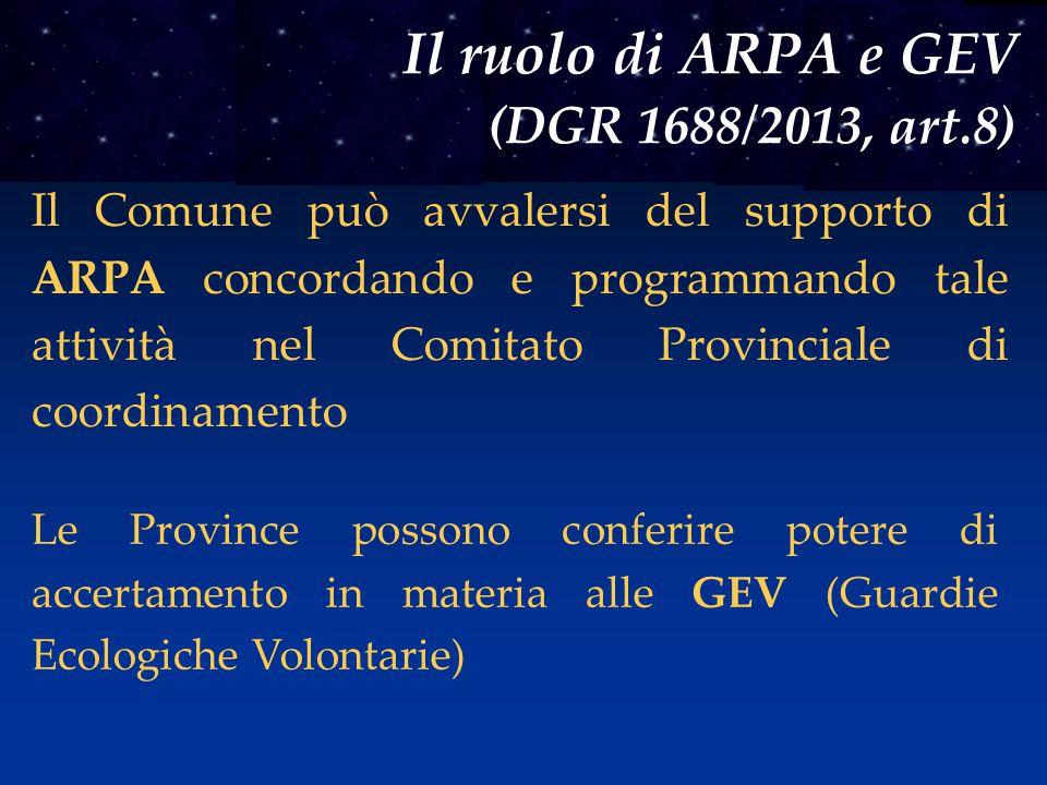 Il ruolo di ARPA e GEV (DGR 1688/2013, art.8)