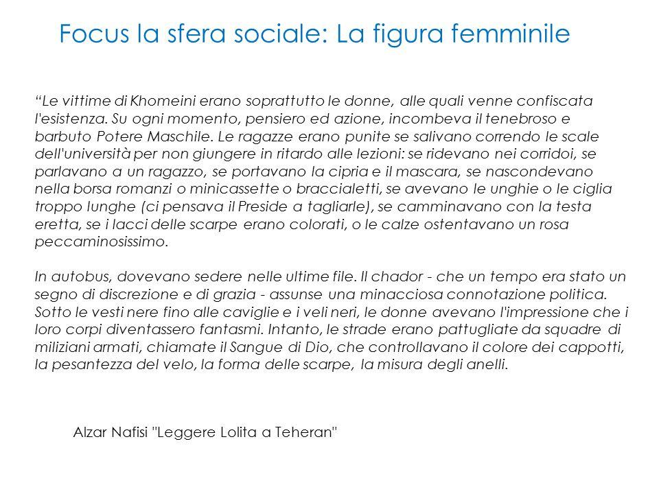 Focus la sfera sociale: La figura femminile