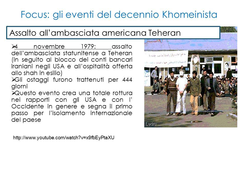 Focus: gli eventi del decennio Khomeinista